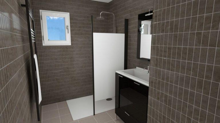 réalisation d'une salle de bain personnalisée dans la drôme