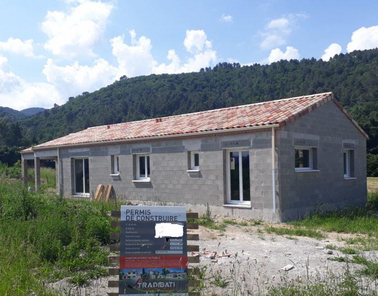 réalisation d'une maison neuve sur mesure à Rompon en ardèche